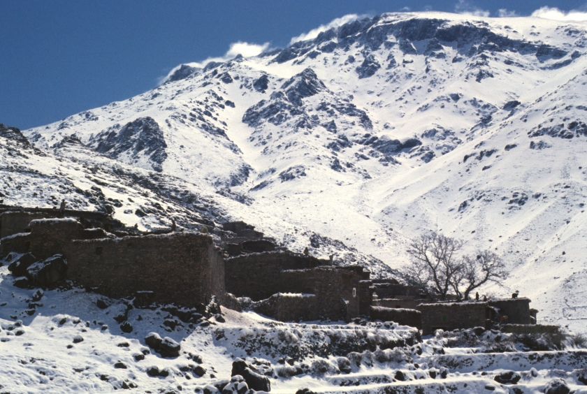 morocco high atlas tachdert snow roof