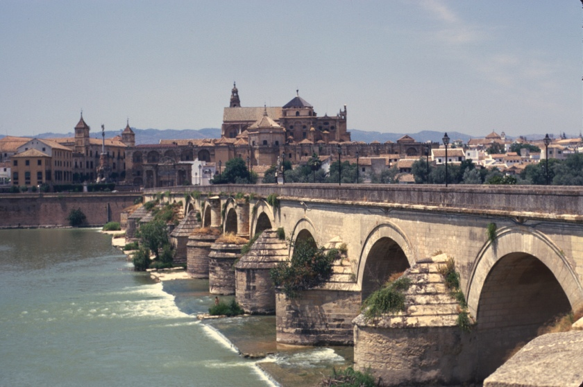 spain cordoba bridge and mosque